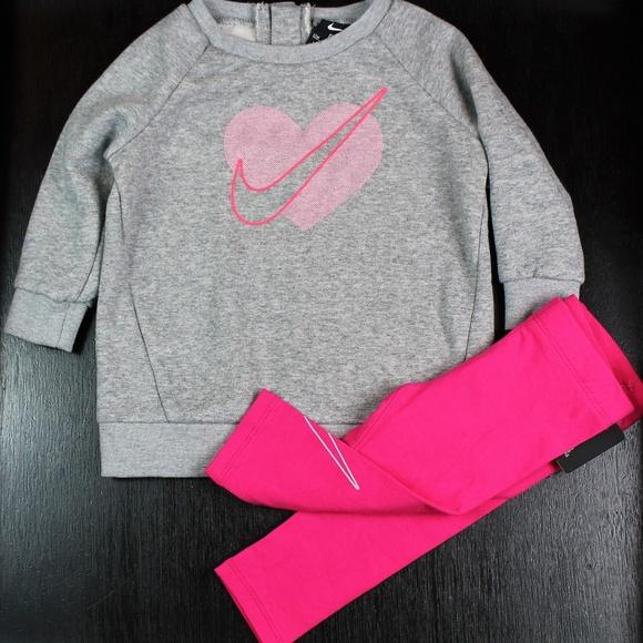 545d777b9c774 Nike Matching Sets   Baby Girl 2 Piece Legging Set Sweatshirtpant ...